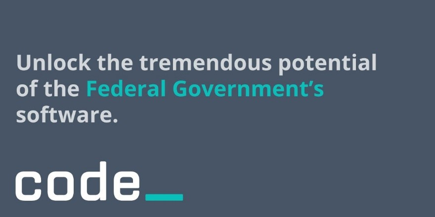 "Picture of PIF graphic, ""Unlock the tremendous potential of the Federal Government's software"""