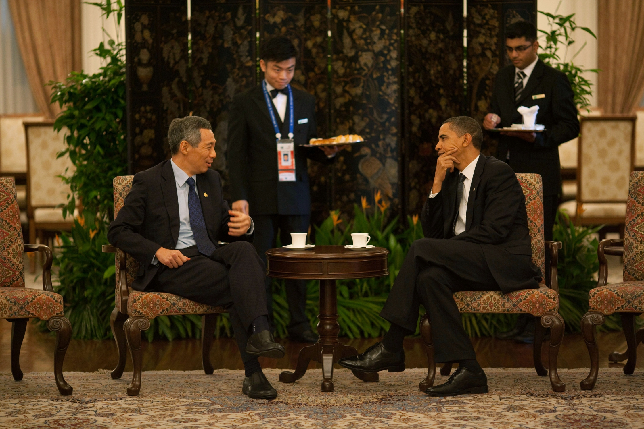President Obama and Prime Minister Lee of Singapore in 2009