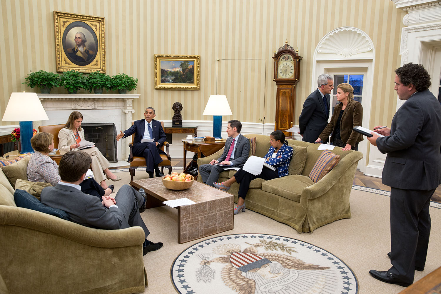 Ebola Briefing in the Oval Office.