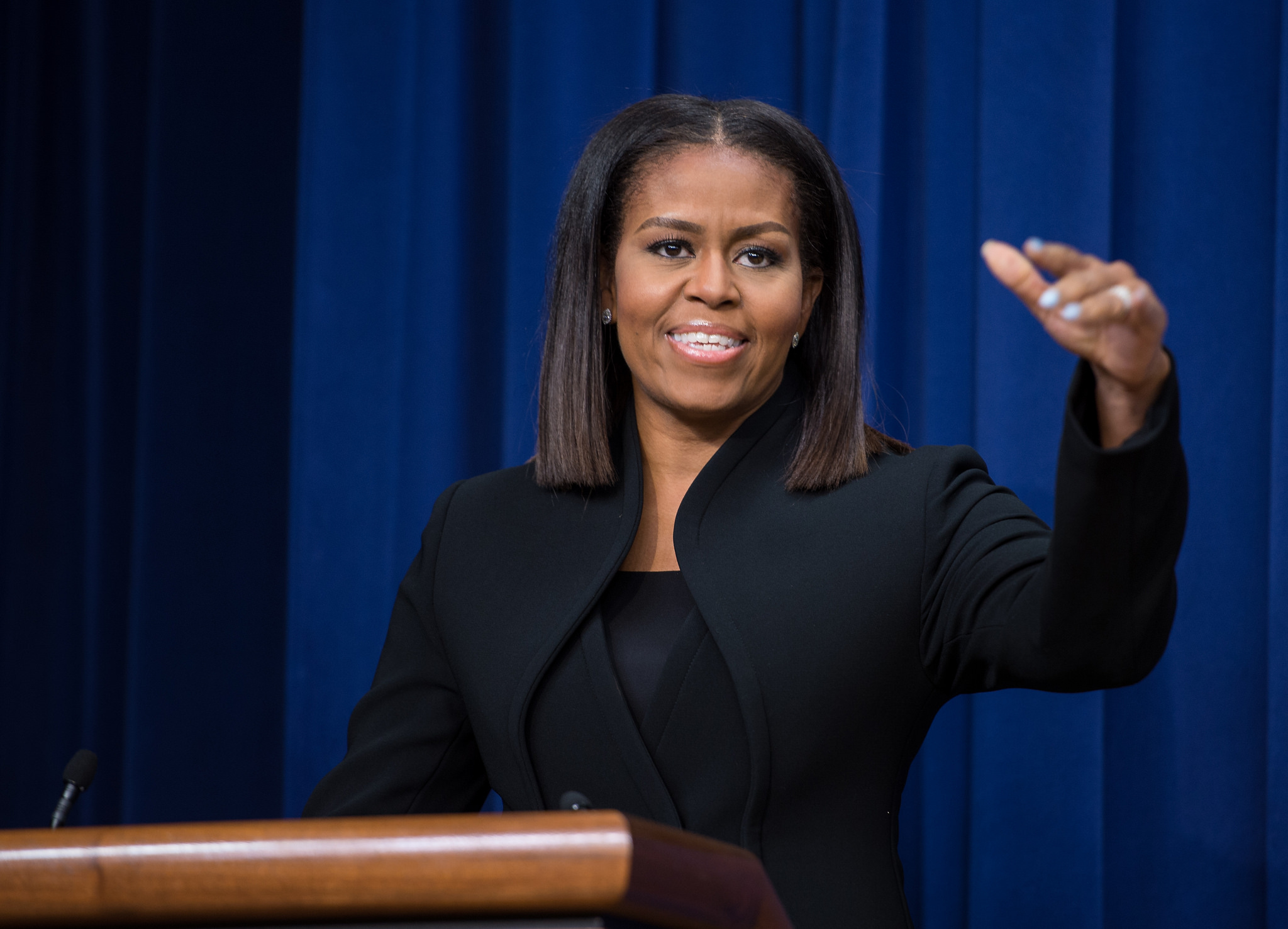 celebrating hidden and modern figures from four eras of space first lady michelle obama speaks after a screening of the film hidden figures at