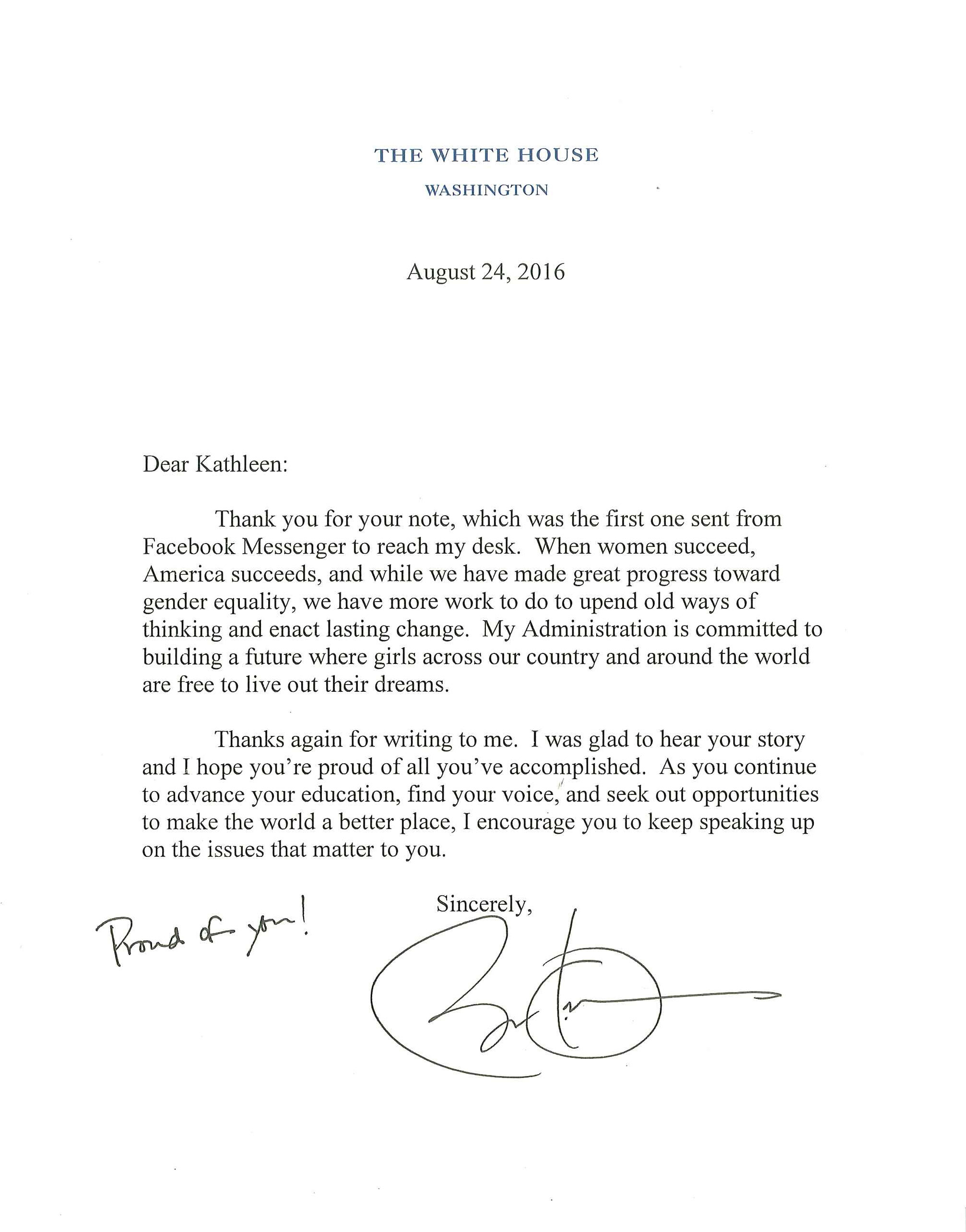 Asked  Answered President Obama Replies To A New Kind Of Letter