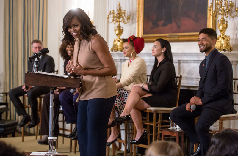 "First Lady Michelle Obama delivers remarks during ""The Musical Legacy of Ray Charles: Student Workshop"""