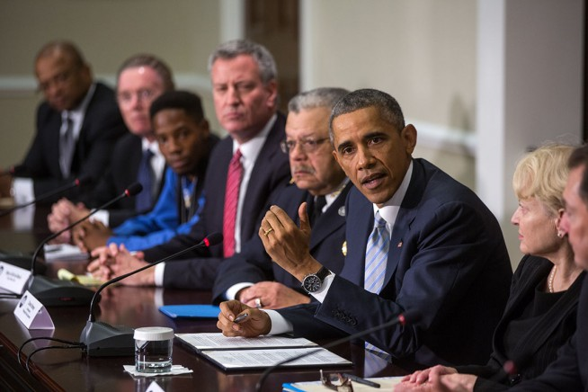President Obama meets with elected officials, community and faith leaders