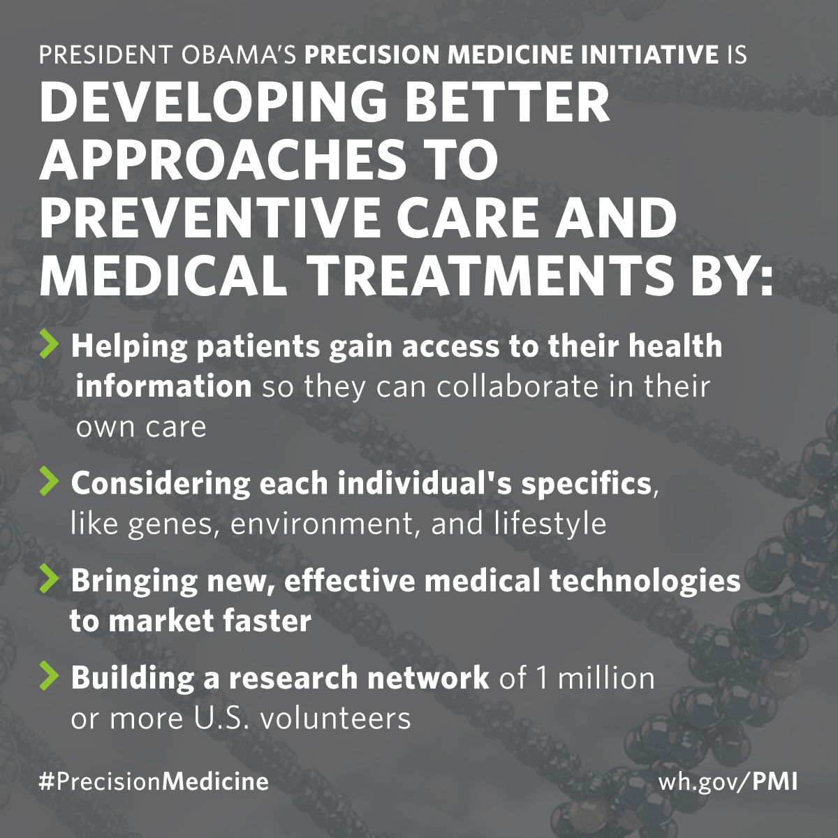 Precision medicine is developing better approaches to preventive care and medical treatments