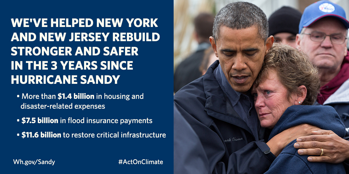 We've helped New York and New Jersey rebuild stronger and safer in the 3 years since Hurricane Sandy
