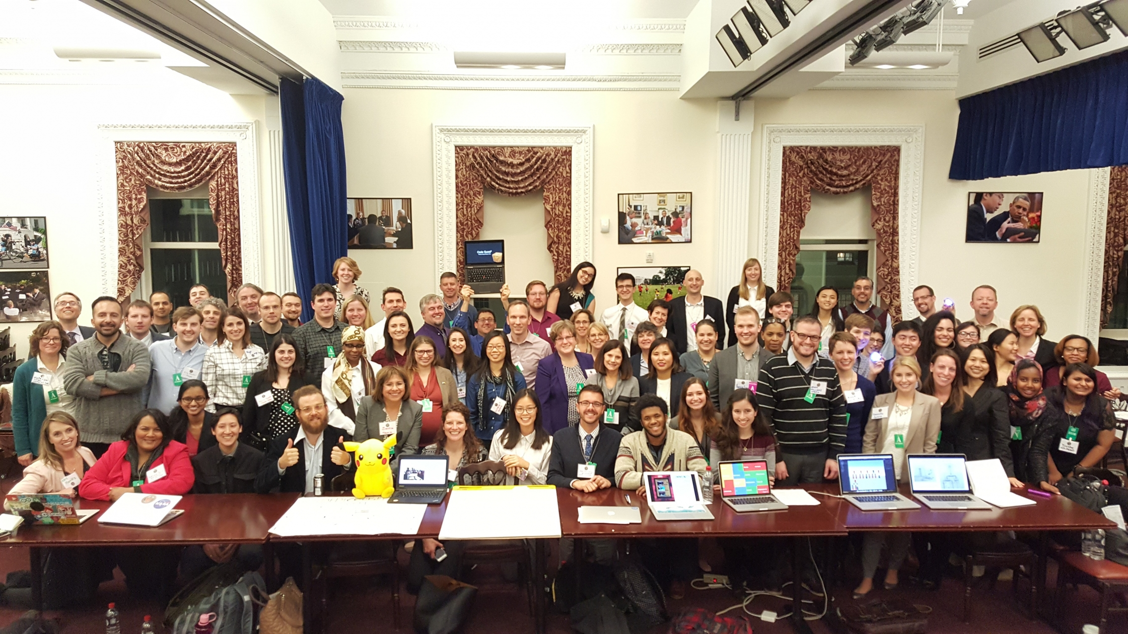 Educators, students, and developers generate new ideas for bringing computer science education to elementary school classrooms at first-ever White House Computer Science Tech Jam, December 7, 2015.