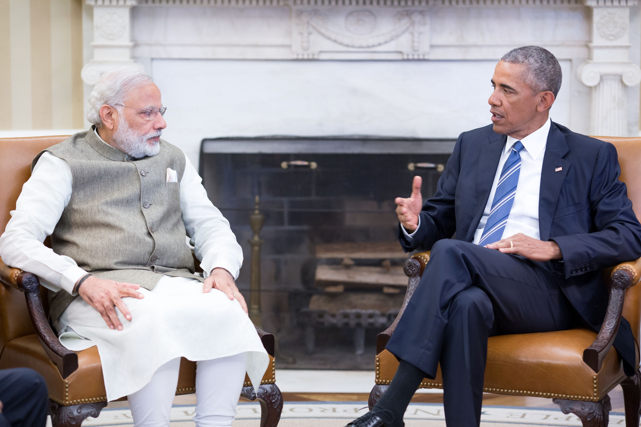 Prime Minister Modi of India meets with the President