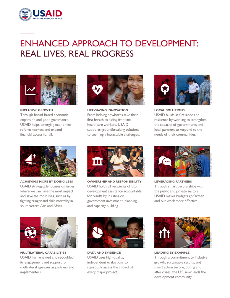 Enhanced Approach to Development: Real Lives, Real Progress
