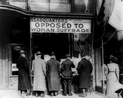 HQ Opposed to Woman Suffrage