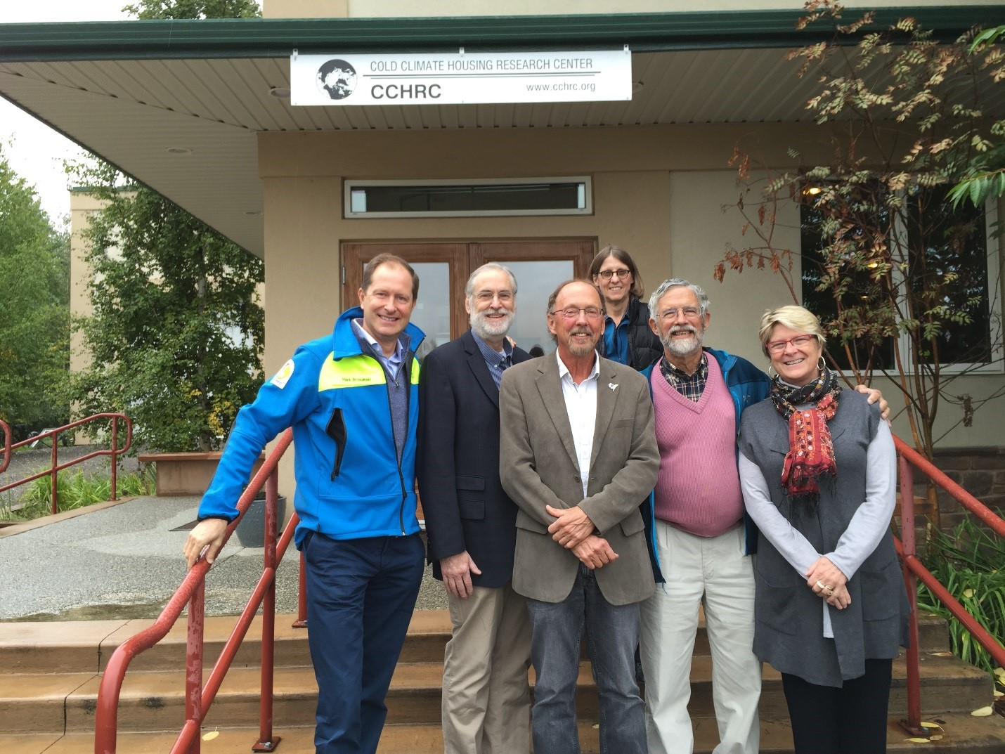 Senior OSTP officials at the Cold Climate Housing Research Center