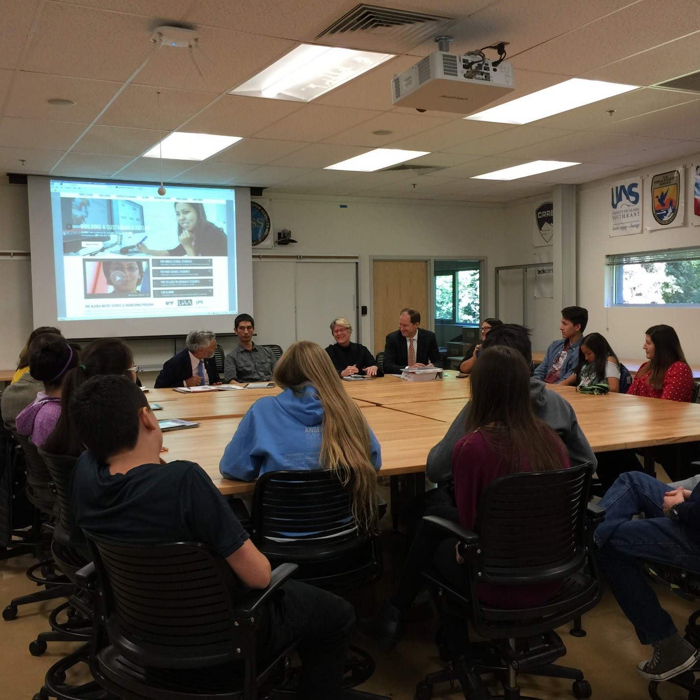 Meeting with students in the Alaska Native Science and Engineering Program (ANSEP)