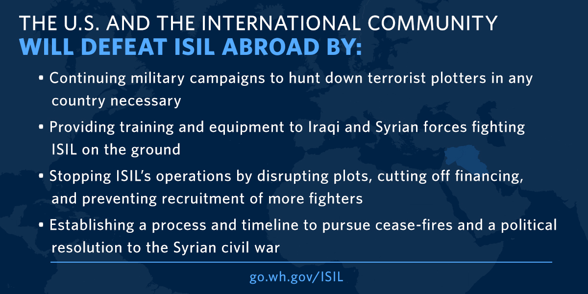 President Obama's ISIL strategy abroad