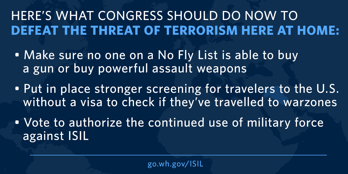 What Congress Can Do Against ISIL At Home