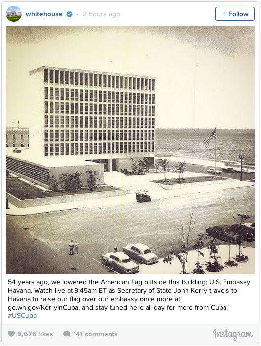 The U.S. Embassy in Cuba 54 years ago