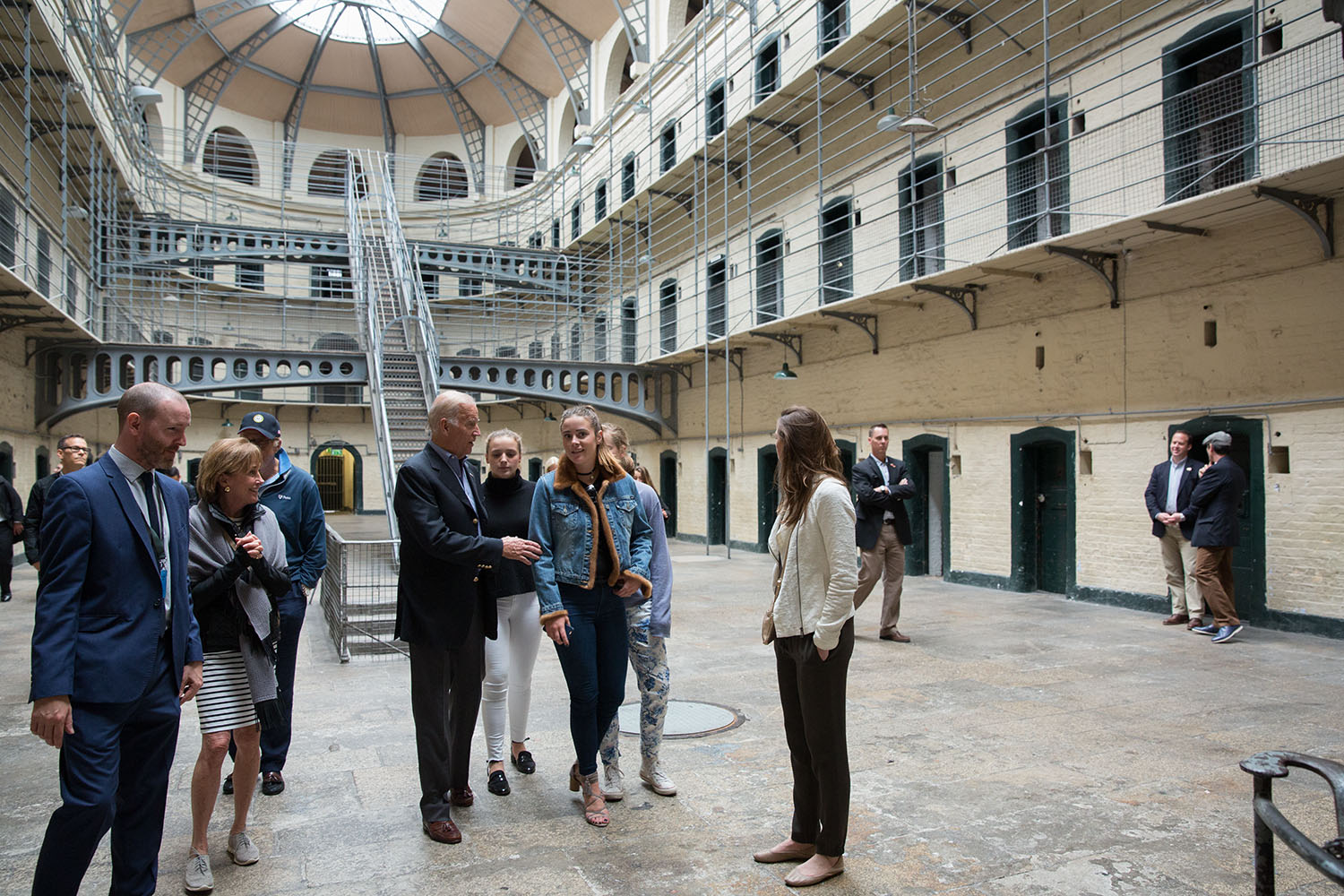 Vice President Joe Biden tours the Kilmainham Prison, where many of those who participated in the Easter Rising in 1916 were held, in Dublin, Ireland, June 23, 2016. (Official White House Photo by David Lienemann)
