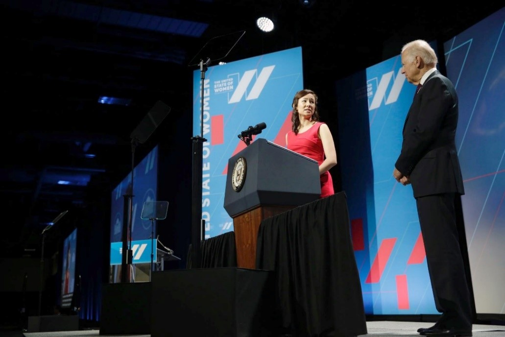 Meghan Yap and VP Biden