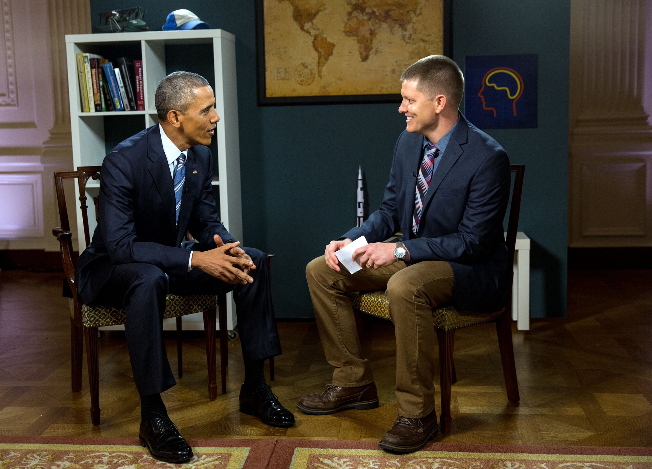 President Obama in a YouTube Interview.