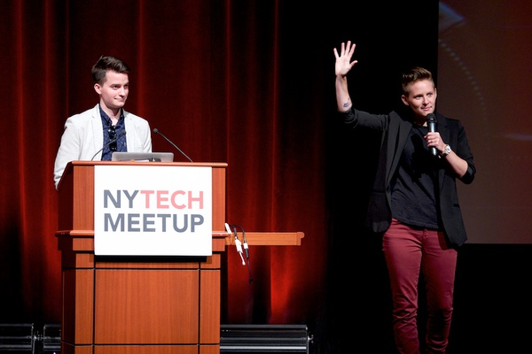 Luke Keller and Kate McCall-Kiley, 2015-2016 Presidential Innovation Fellows, and the NY Tech Meetup.