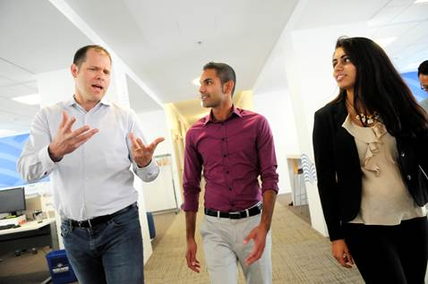 Presidential Innovation Fellows Leadership Team Ben Willman, Nathan Olson, and Puja Balachander.