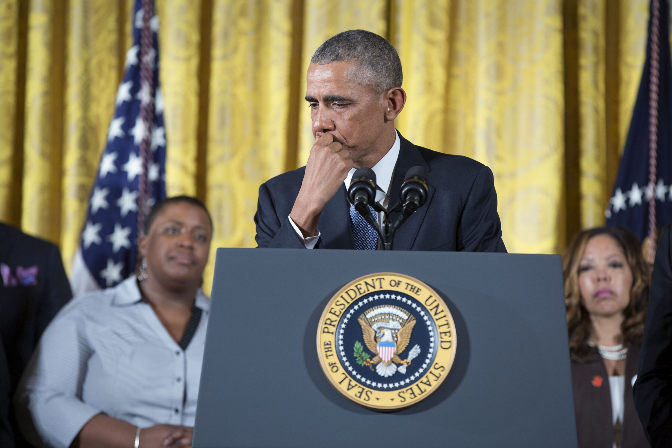 President Obama tears up at his press conference