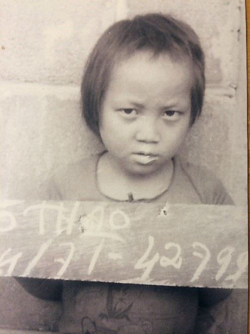 Bo at Ban Nam Yao refugee camp in 1979 when her family was being processed to come to America.
