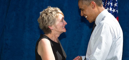 Marla with President Obama