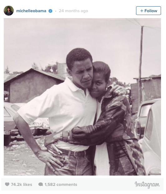 Barack and Michelle. #ThrowbackThursday #TBT #NoFilter