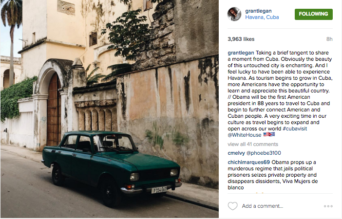 @grantlegan shares his perspective on the President's historic trip to Cuba