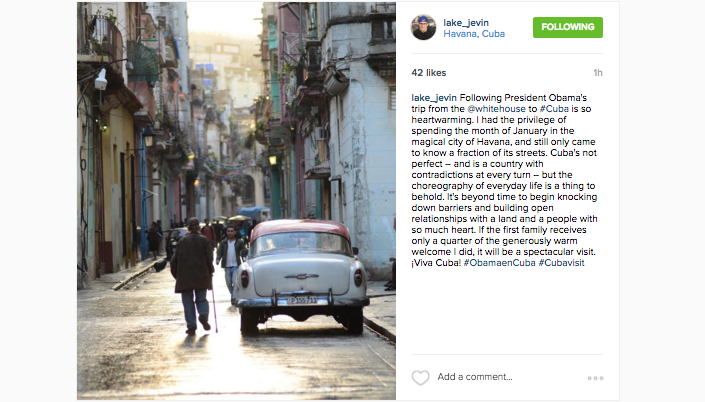 @lake_jevin shares his thought's on the President's trip to Cuba