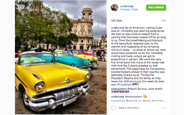 @underceej shares memories from his trip to Cuba