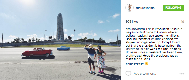 @shaunevaristo shares his photo from Revolution Square taken during his trip to Cuba