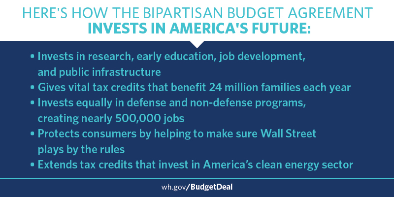 A bipartisan budget agreement
