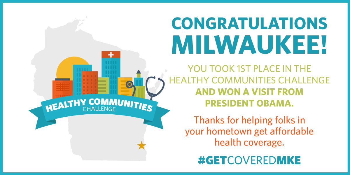 Congratulations to Milwaukee, winner of the Healthy Communities Challenge.