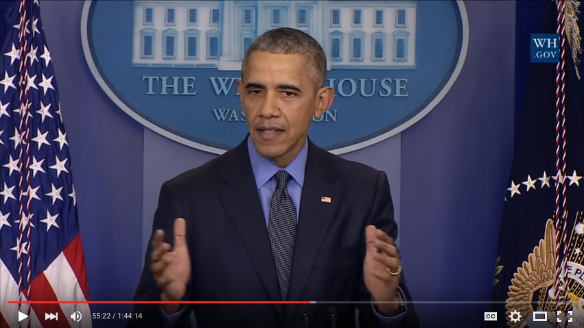 POTUS gives a press conference