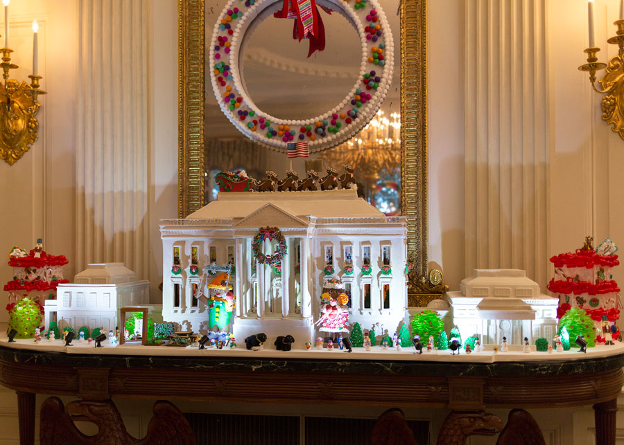 this years white house gingerbread house is made of 150 pounds of gingerbread - Gingerbread House Christmas Decorations