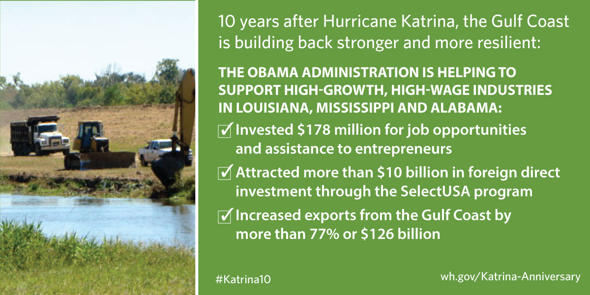 We're supporting high-growth, high-wage industries in Louisiana, Mississippi and Alabama