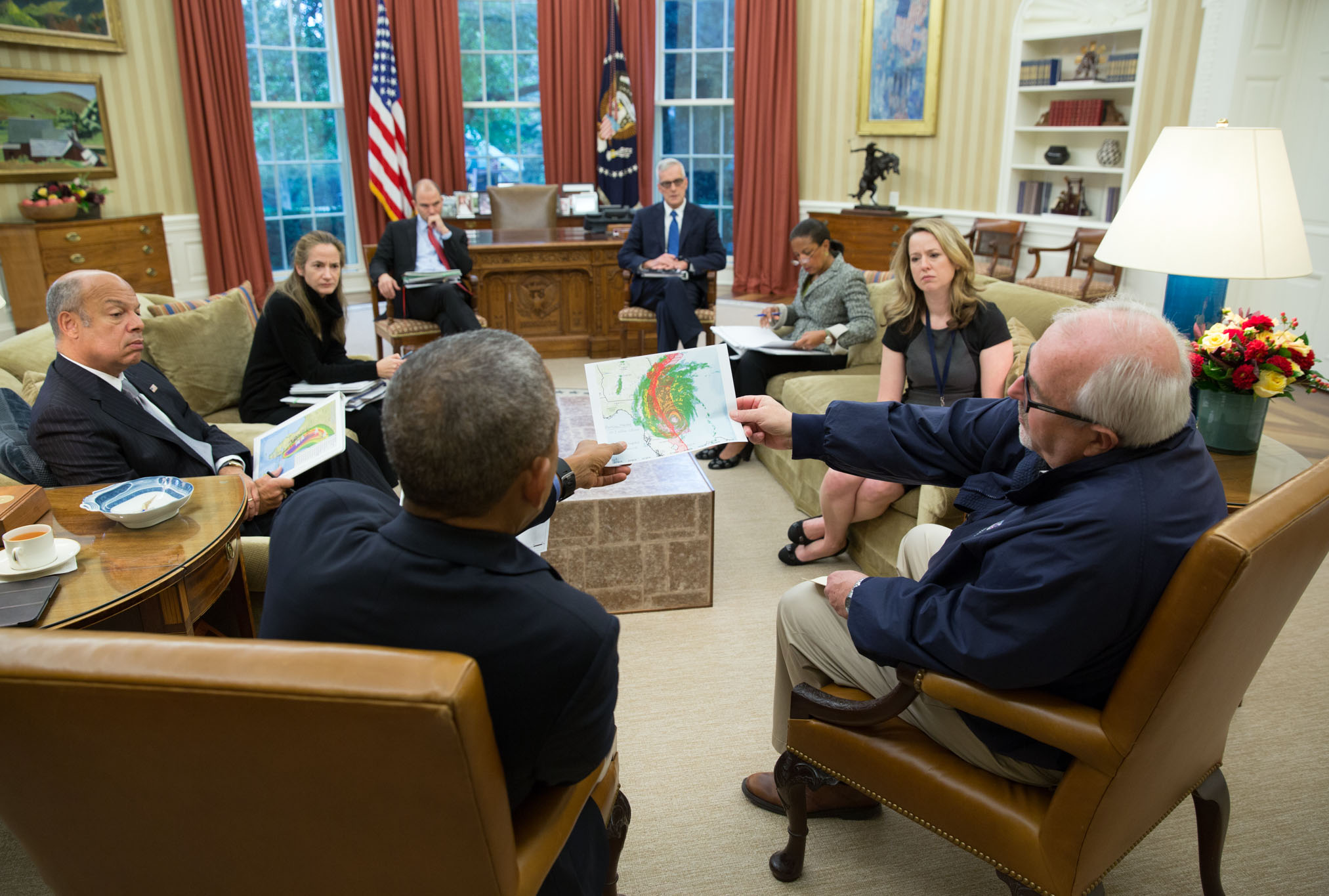 President Obama is updated on Hurricane Matthew