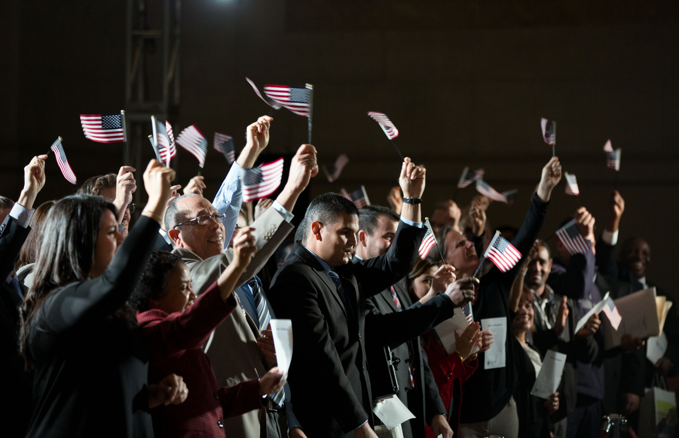 Newly naturalized citizens