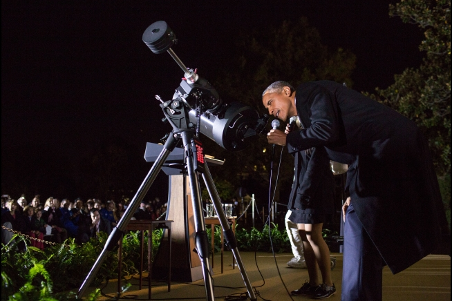 President Obama at the 2015 White House Astronomy Night.