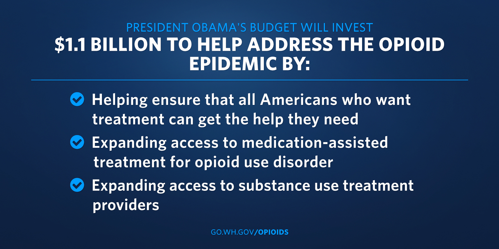 President's proposal to combat opioids