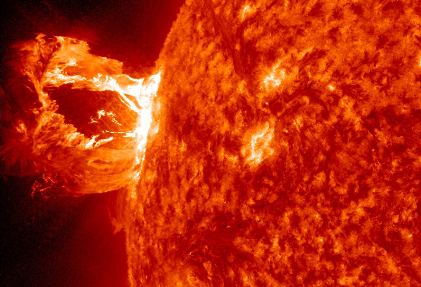 Solar flare and Coronal Mass Ejection from the NASA Solar Dynamics Observatory.  (Photo Credit: NASA).