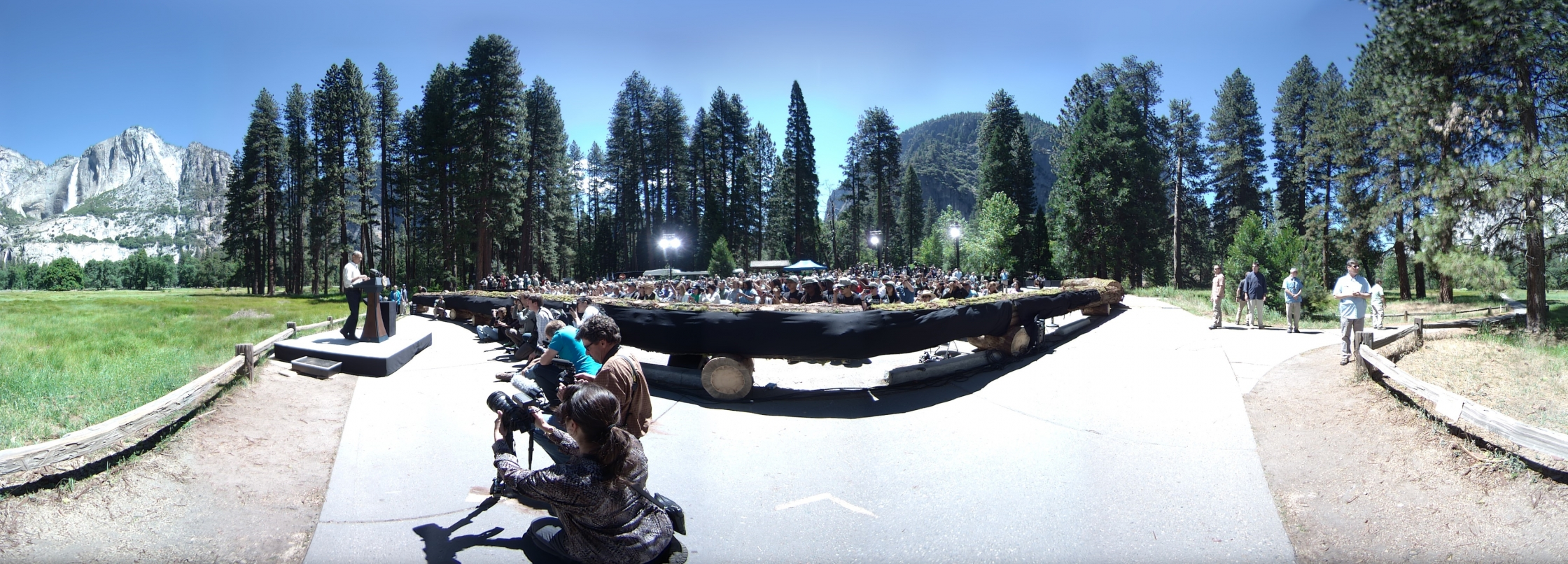 President Obama speaks in Yosemite